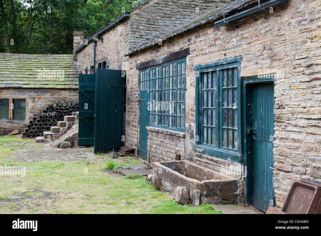 Abbeydale Industrial Hamlet, Sheffield, developed during the industrial revolution for making knives and tools - Stock Image