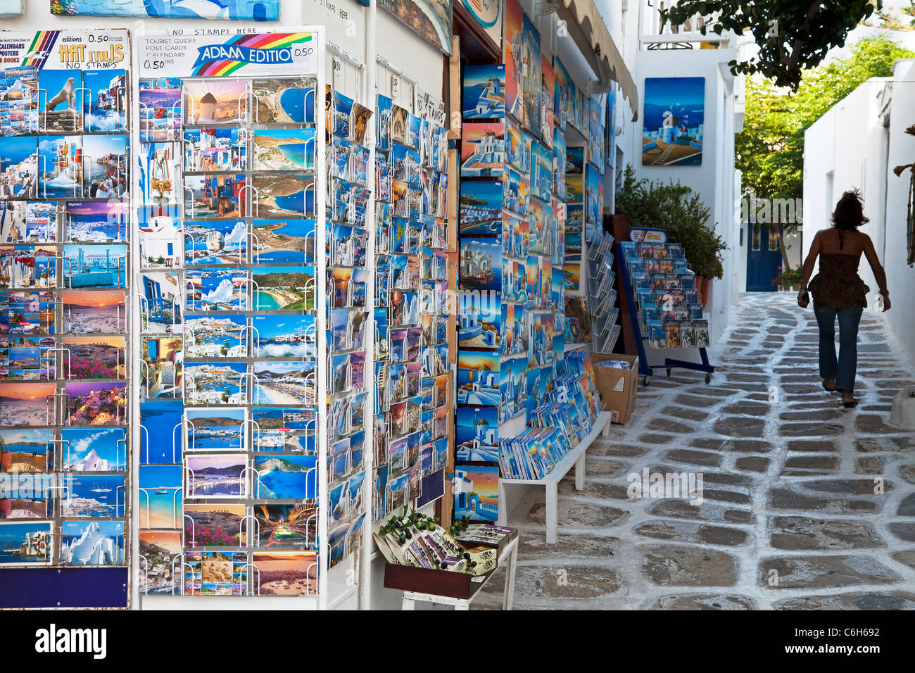 Mykonos (Hora), Cyclades Islands, Greece, Europe - Stock Image