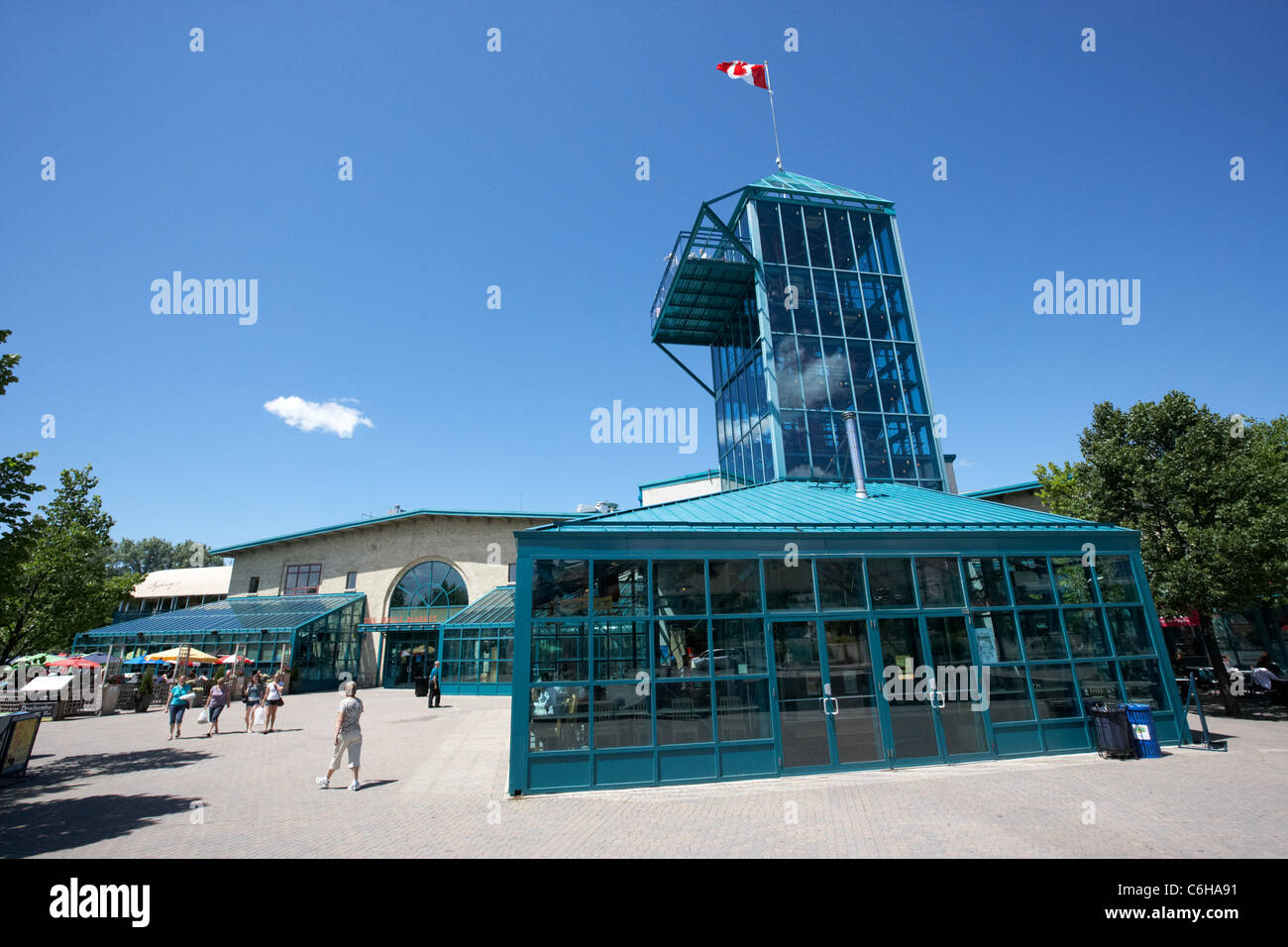 the forks market and tower Winnipeg Manitoba Canada - Stock Image