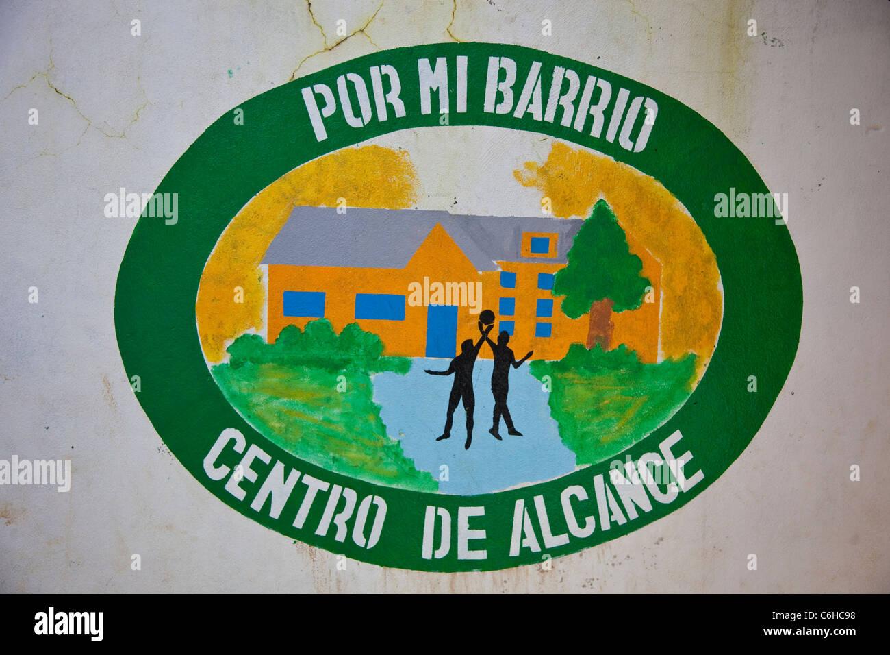 USAID development youth project , Por Mi Barrio, against gangs, San Salvador, El Salvador Stock Photo