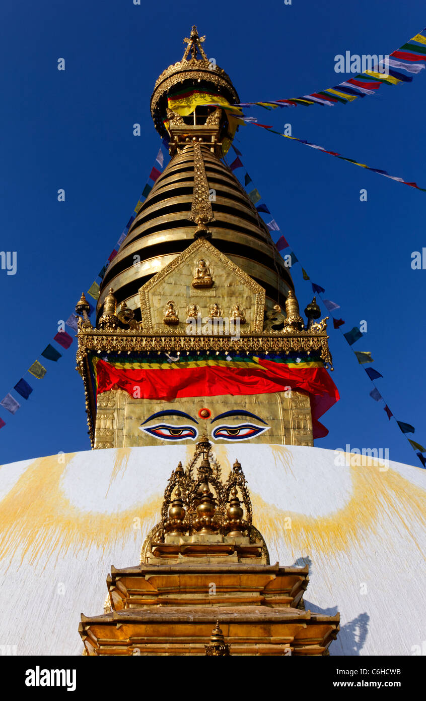 Swayambhunath, the Monkey Temple, Kathamndu, Nepal - Stock Image