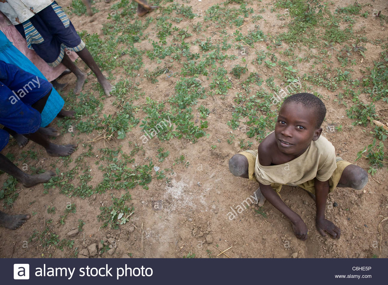 Child in Acowa refugee camp - Stock Image