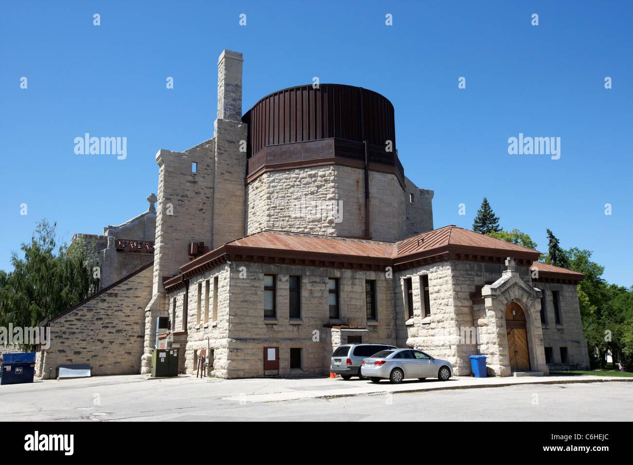 rear saint boniface cathedral french quarter winnipeg manitoba canada - Stock Image