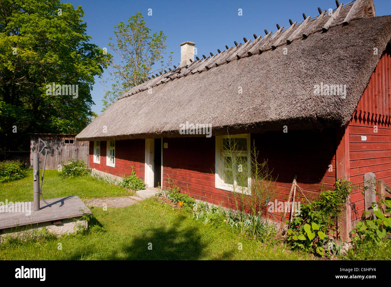 Koguva museum village, Muhu island, - best preserved village in Estonia - Estonia. - Stock Image