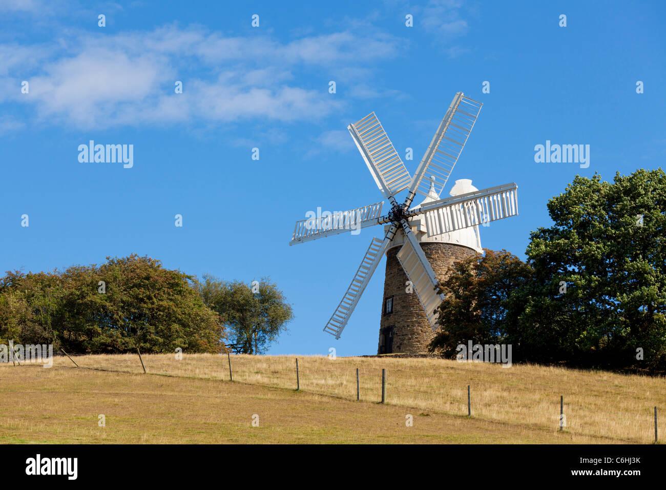 Heage Windmill a six sailed stone windmill Heage village derbyshire england uk gb eu europe - Stock Image