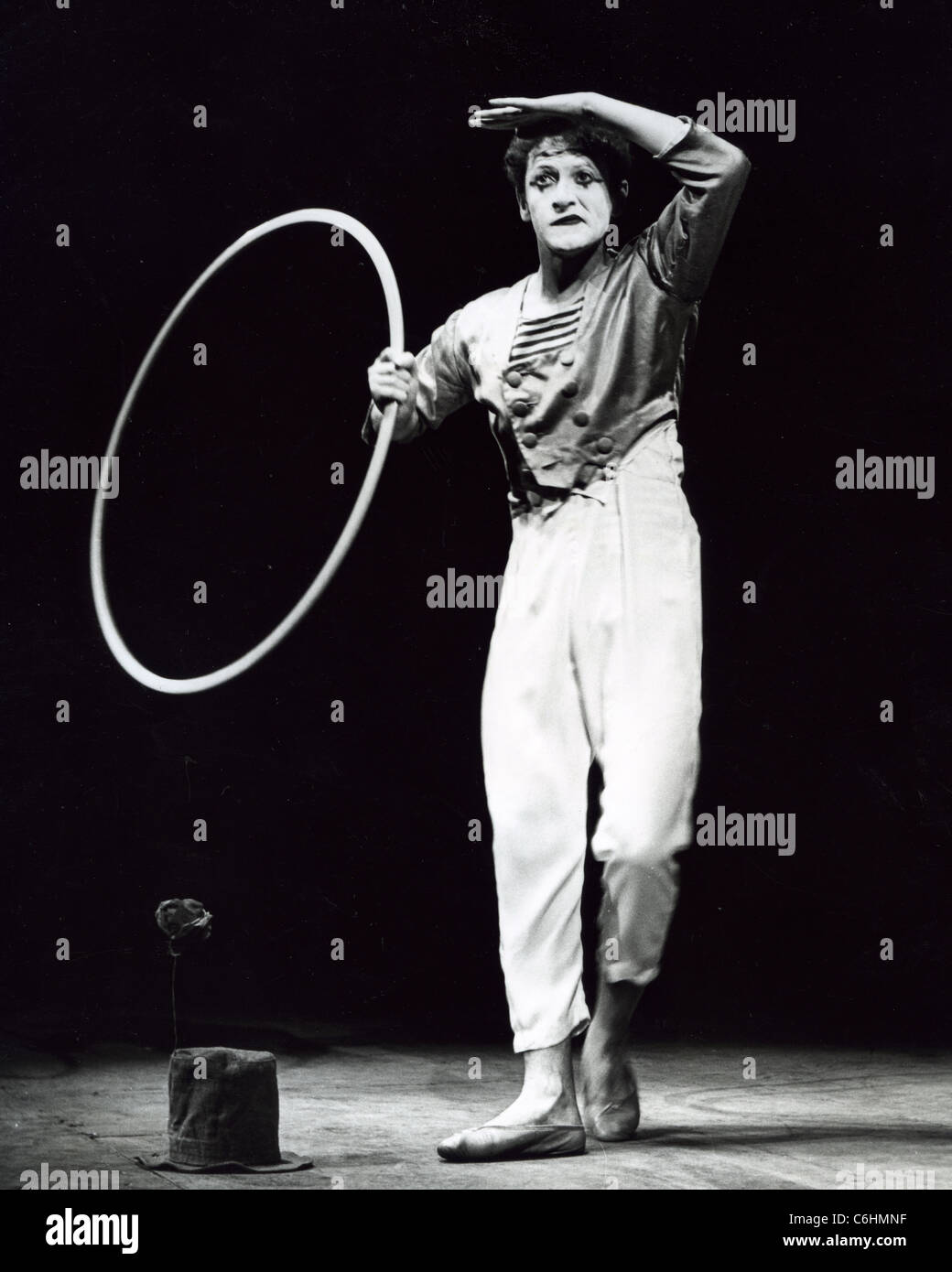 MARCEL MARCEAU (1923-2007) French actor and mime artist - Stock Image