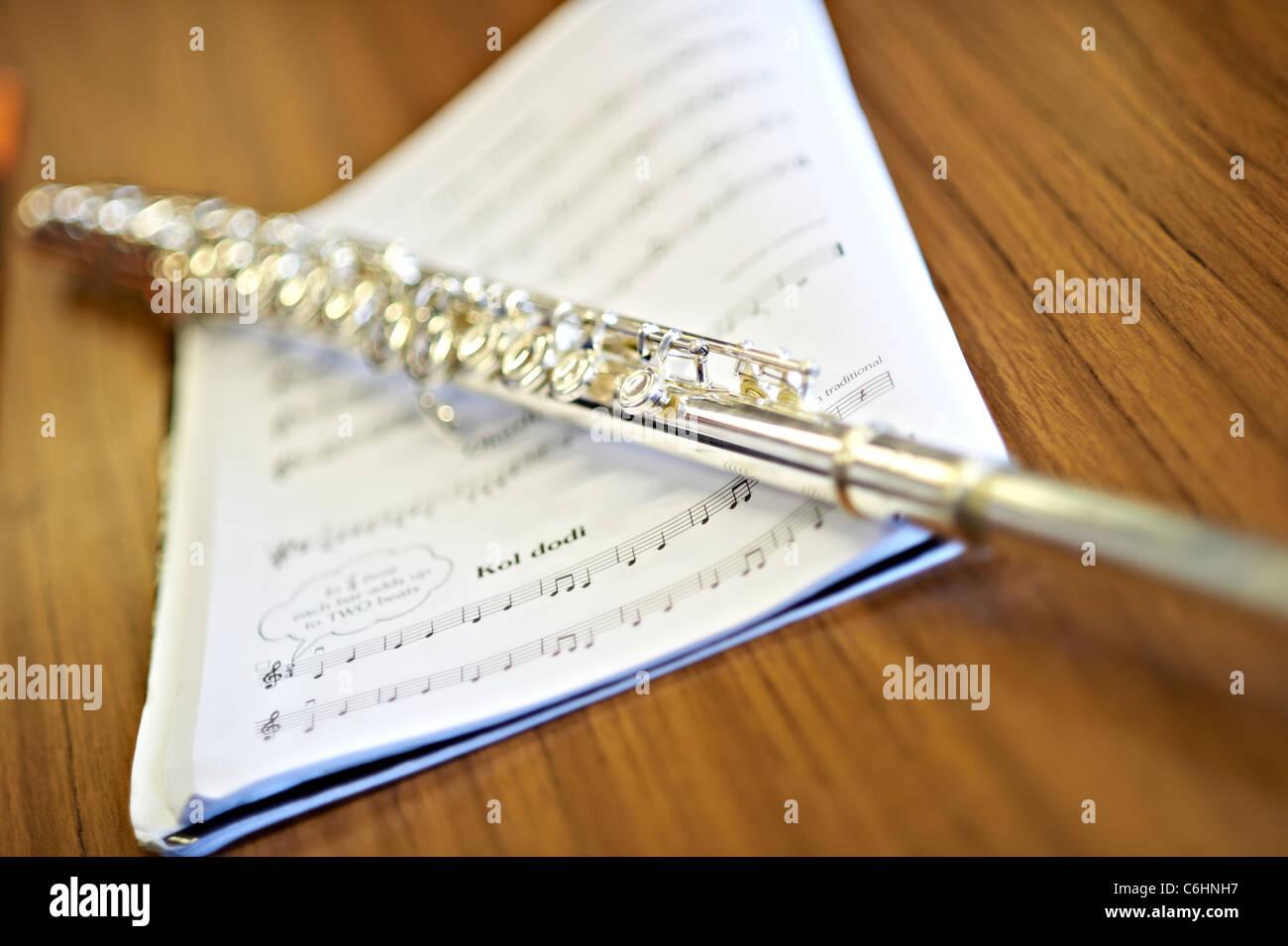 flute score - Stock Image