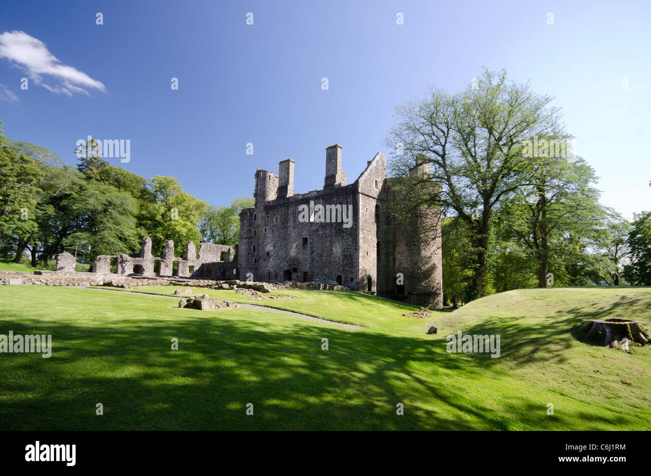 Huntly Castle from the rear - Stock Image