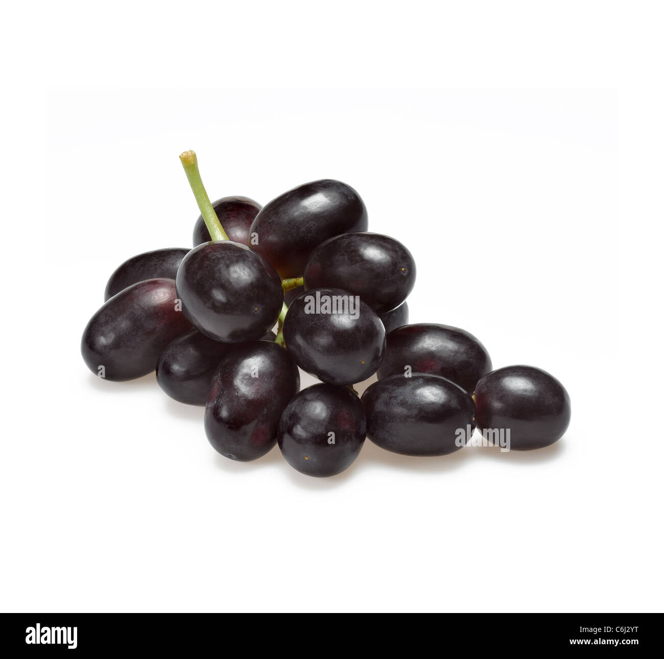 black grapes - Stock Image