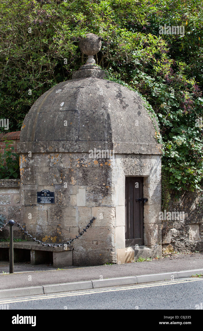 The Old Lock Up Gaol Hilperton - Stock Image