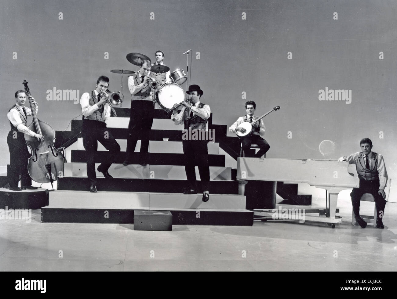 ACKER BILK AND HIS PARAMOUNT JAZZ BAND  about 1963 - Stock Image