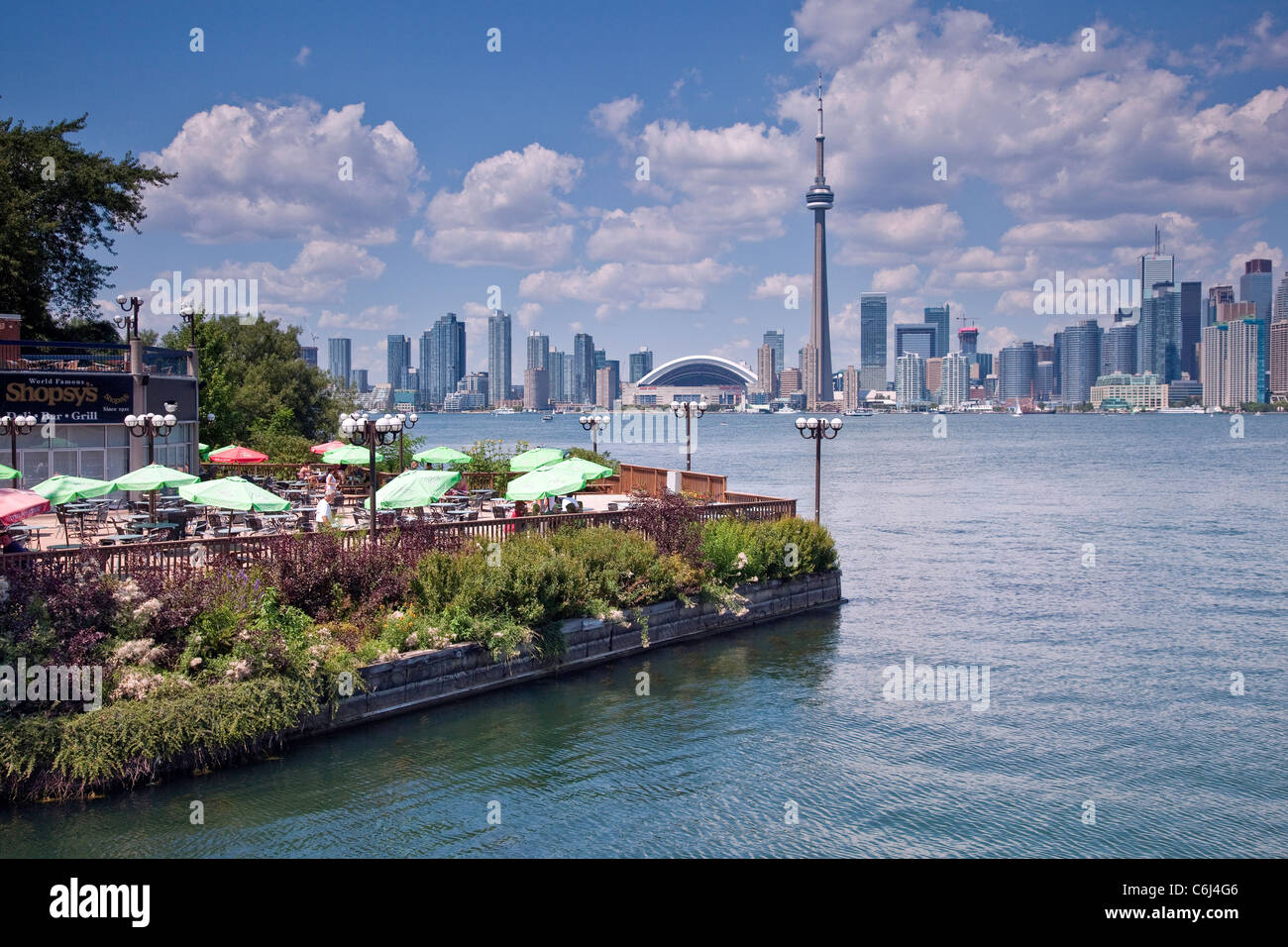 City lake front of downtown toronto skyline panorama view for Lake front view