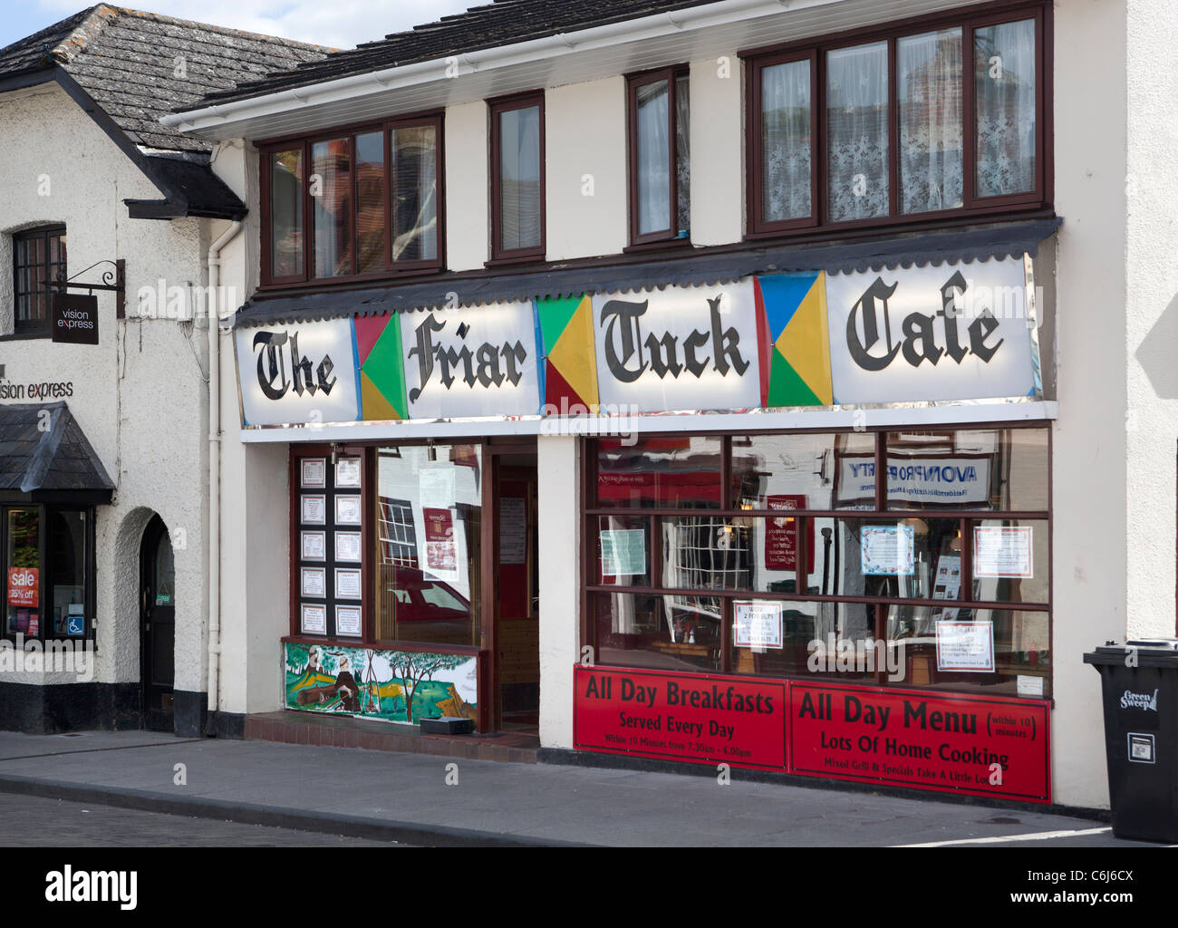 The Friar Tuck Cafe Amesbury Wiltshire - Stock Image