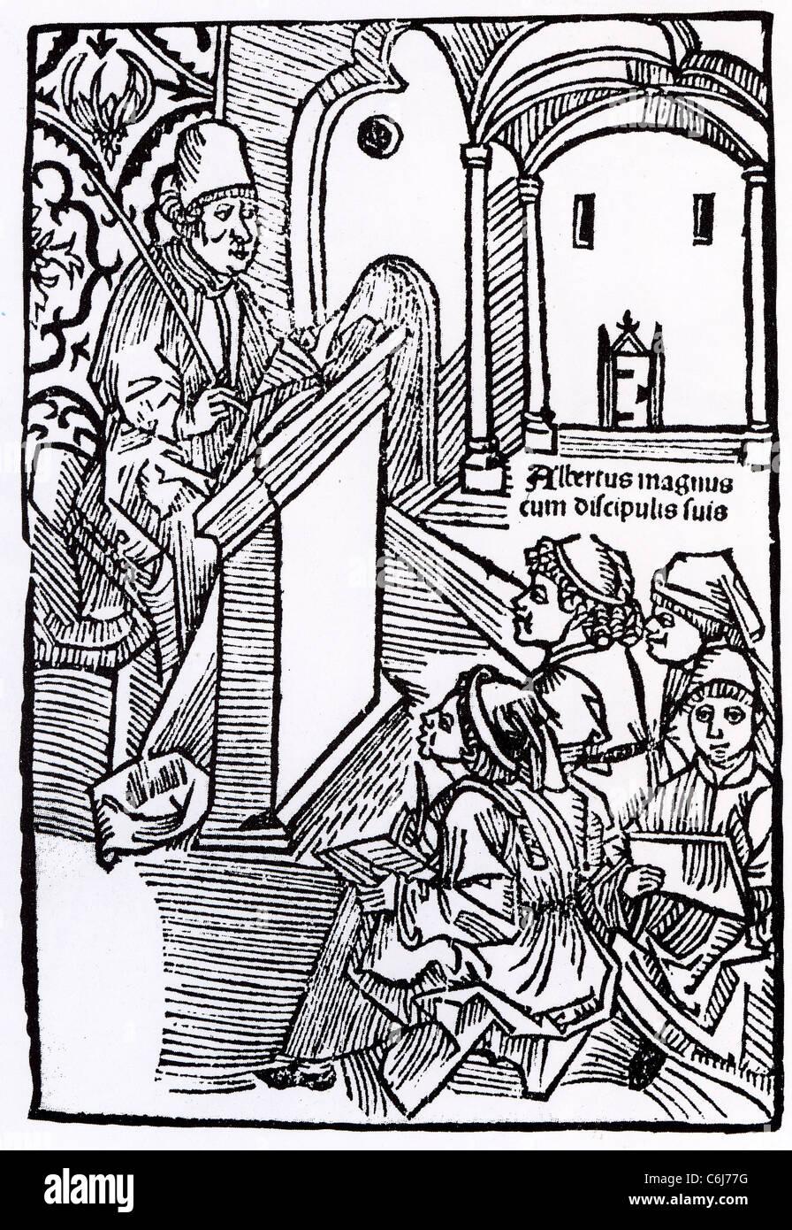 ALBERTUS MAGNUS  (c 1193-1280)  German Dominican bishop and naturalist - Stock Image