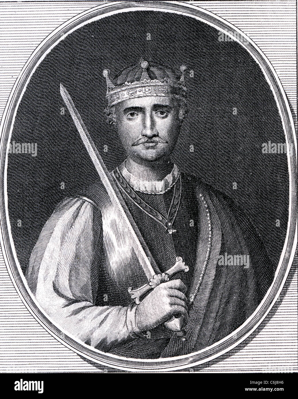 WILLIAM THE CONQUEROR (c 1028-1087) first Norman King of England - Stock Image