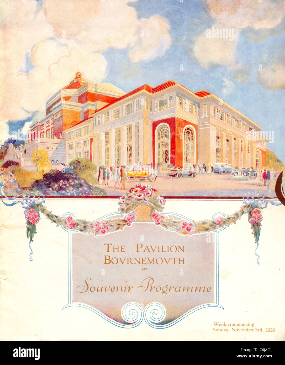 Souvenir programme for The Pavilion, Bournemouth - Stock Image
