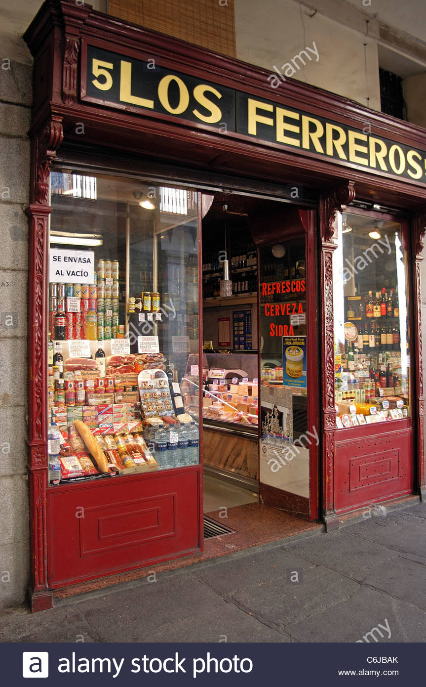 b12a82ee4d44 Spain Madrid Old Food Shop Stock Photos   Spain Madrid Old Food Shop ...