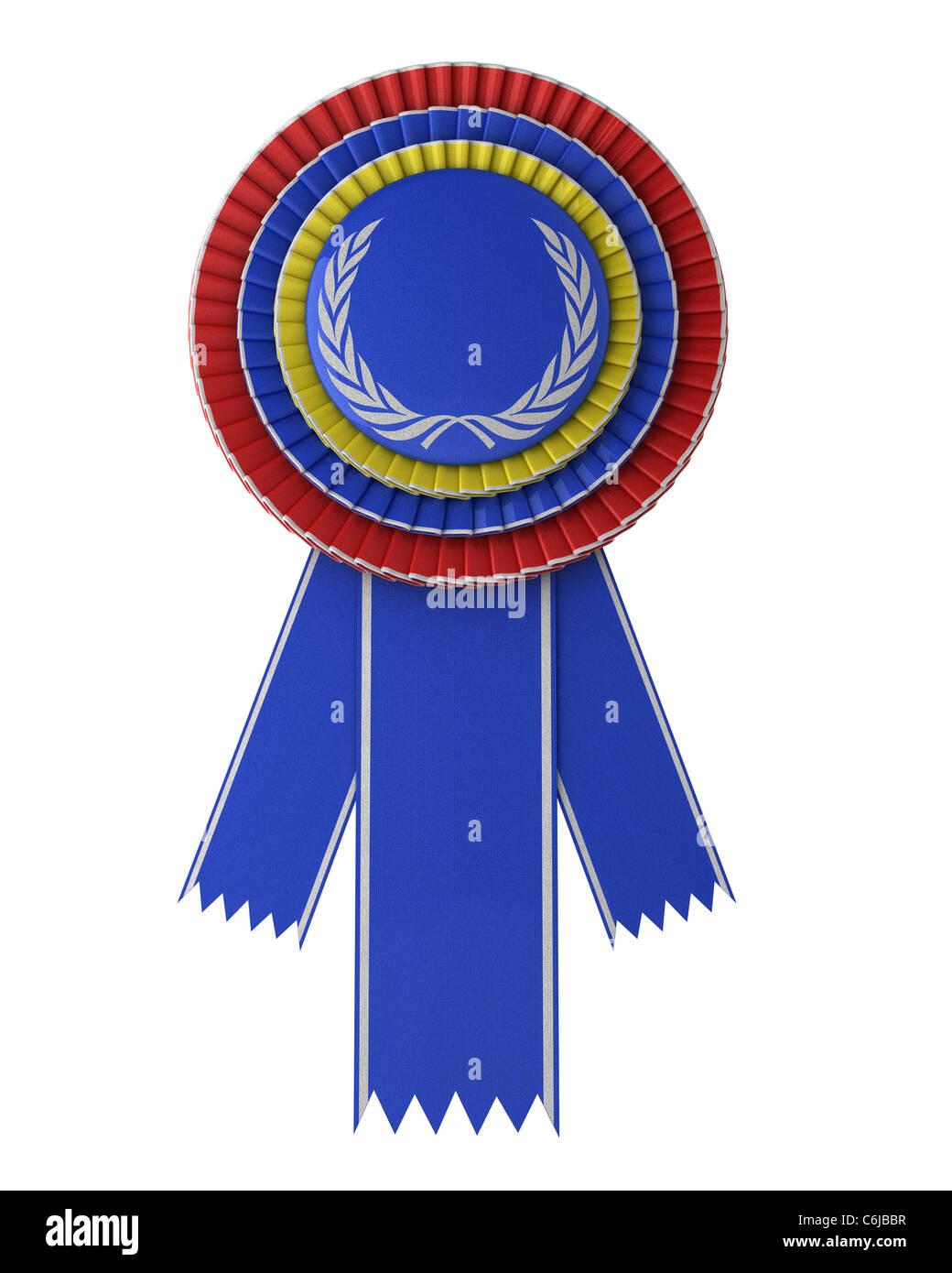 Colorful award ribbon - Stock Image