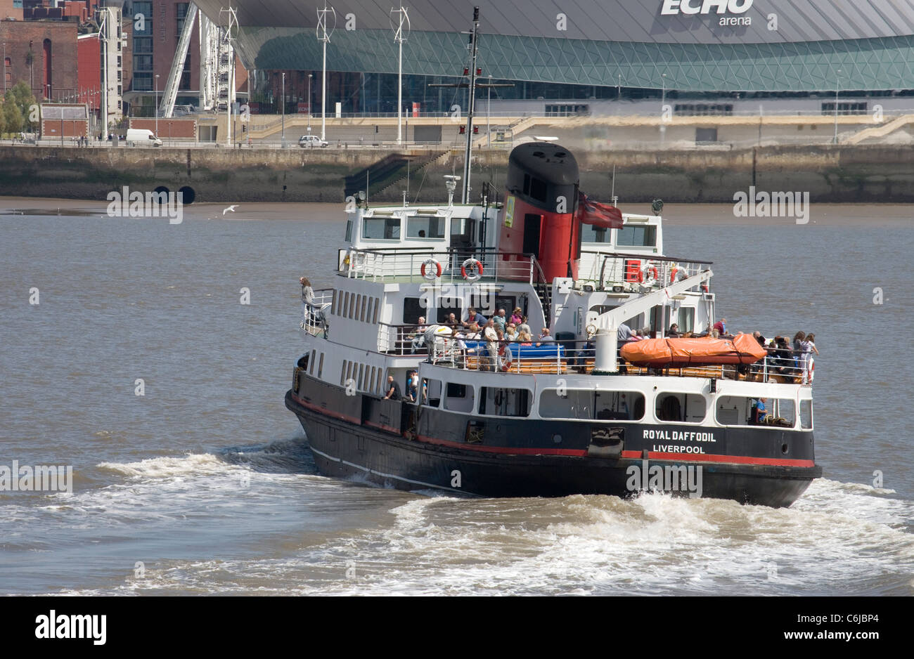 mersey ferry from birkenhead to liverpool on the wirral - Stock Image