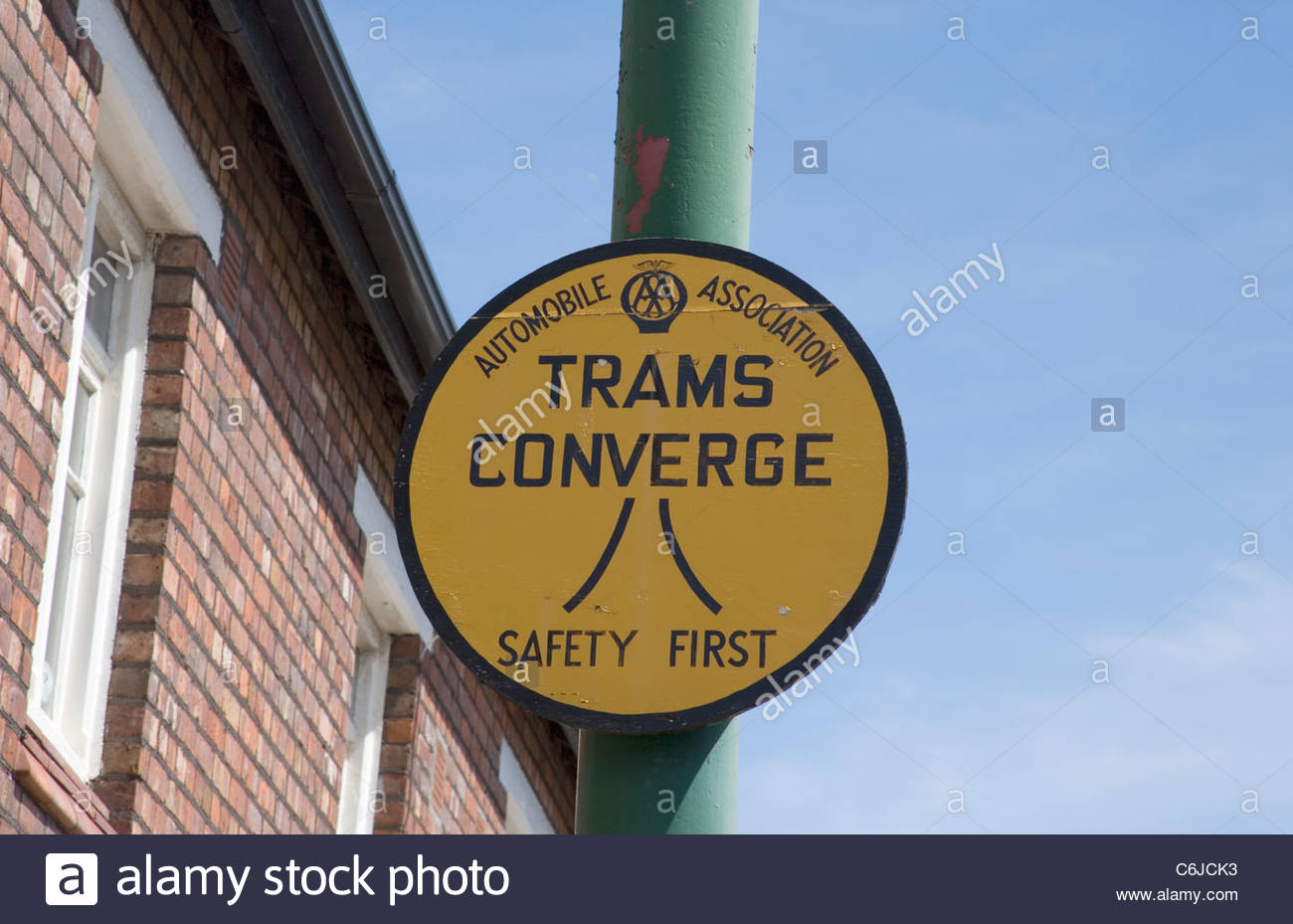 birkenhead tram signs on the wirral - Stock Image