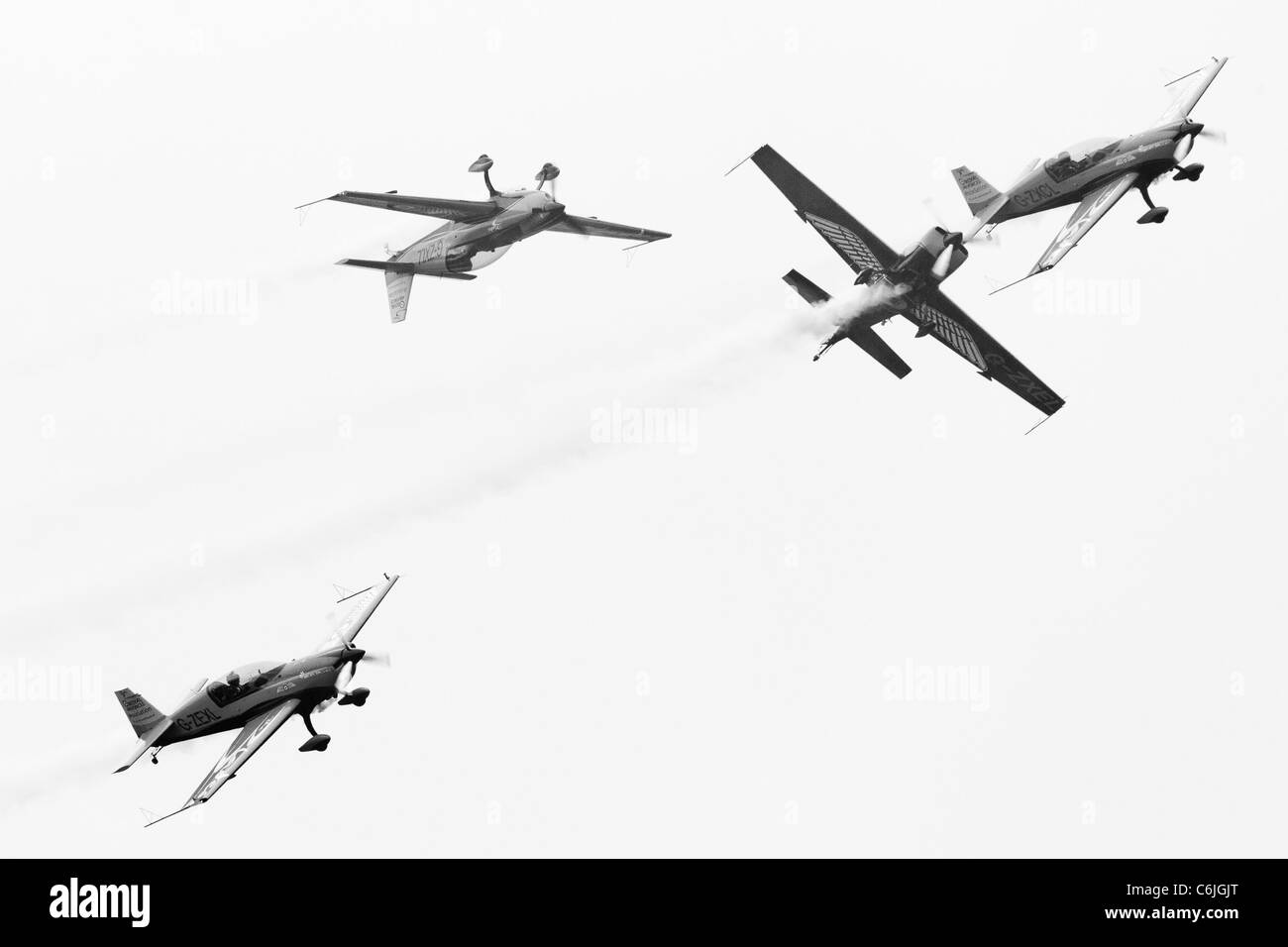 The Blades aerobatic team in action over Shoreham airfield in 2011 - Stock Image