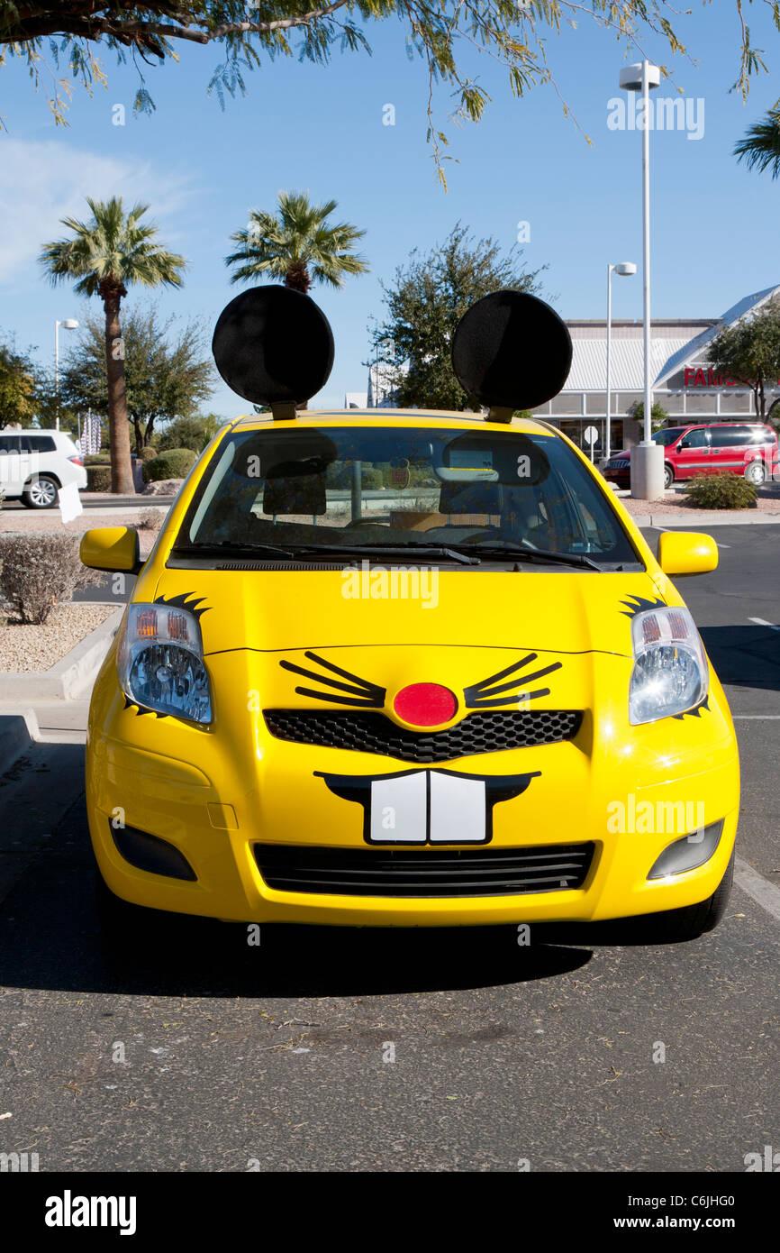 Car made up to look like a mouse, Phoenix, Arizona, USA - Stock Image