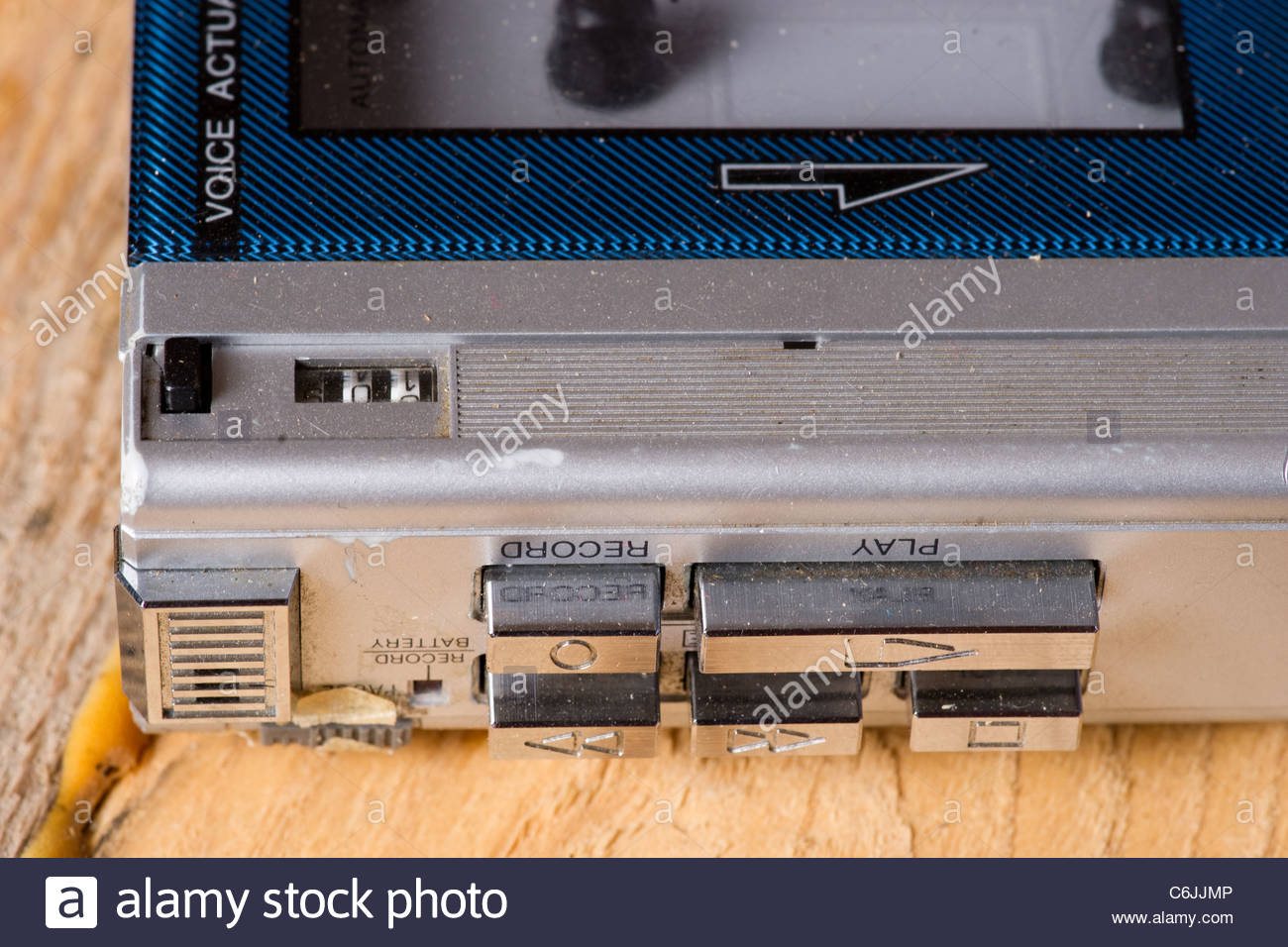 Cassette tape recorder Stock Photo