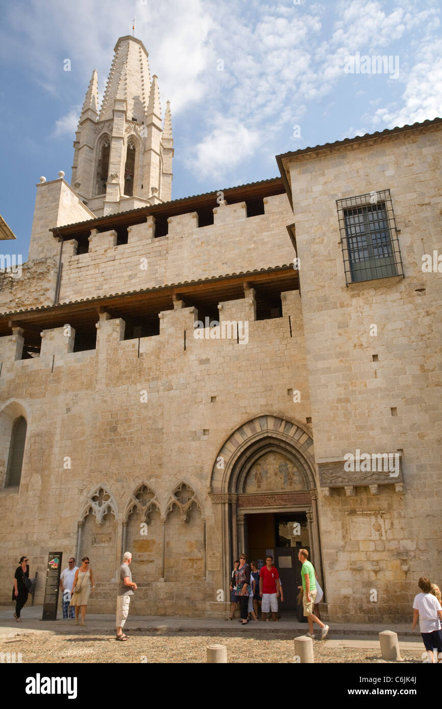 Eglesia de Sant Feliu, Girona, Catalonia, Spain Stock Photo
