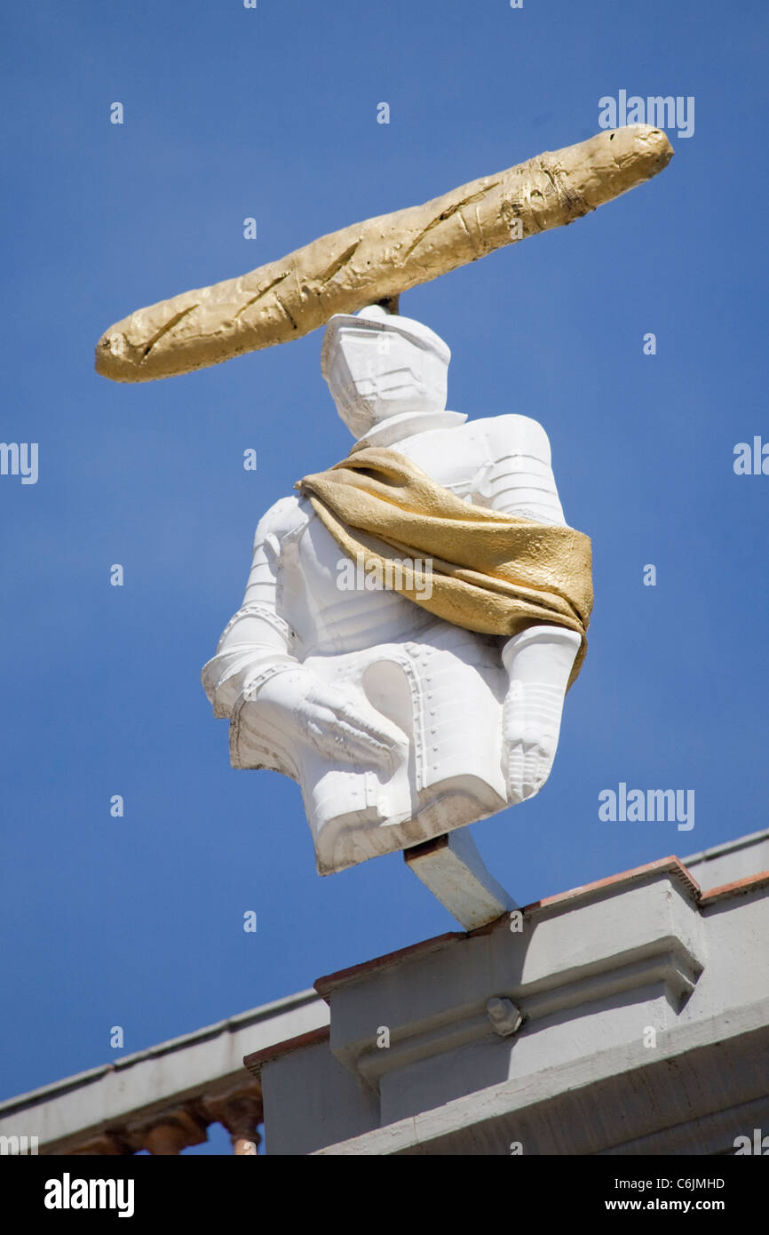 Sculpture on the Teatre-Museu Dali, Figueres, Catalonia, Spain - Stock Image