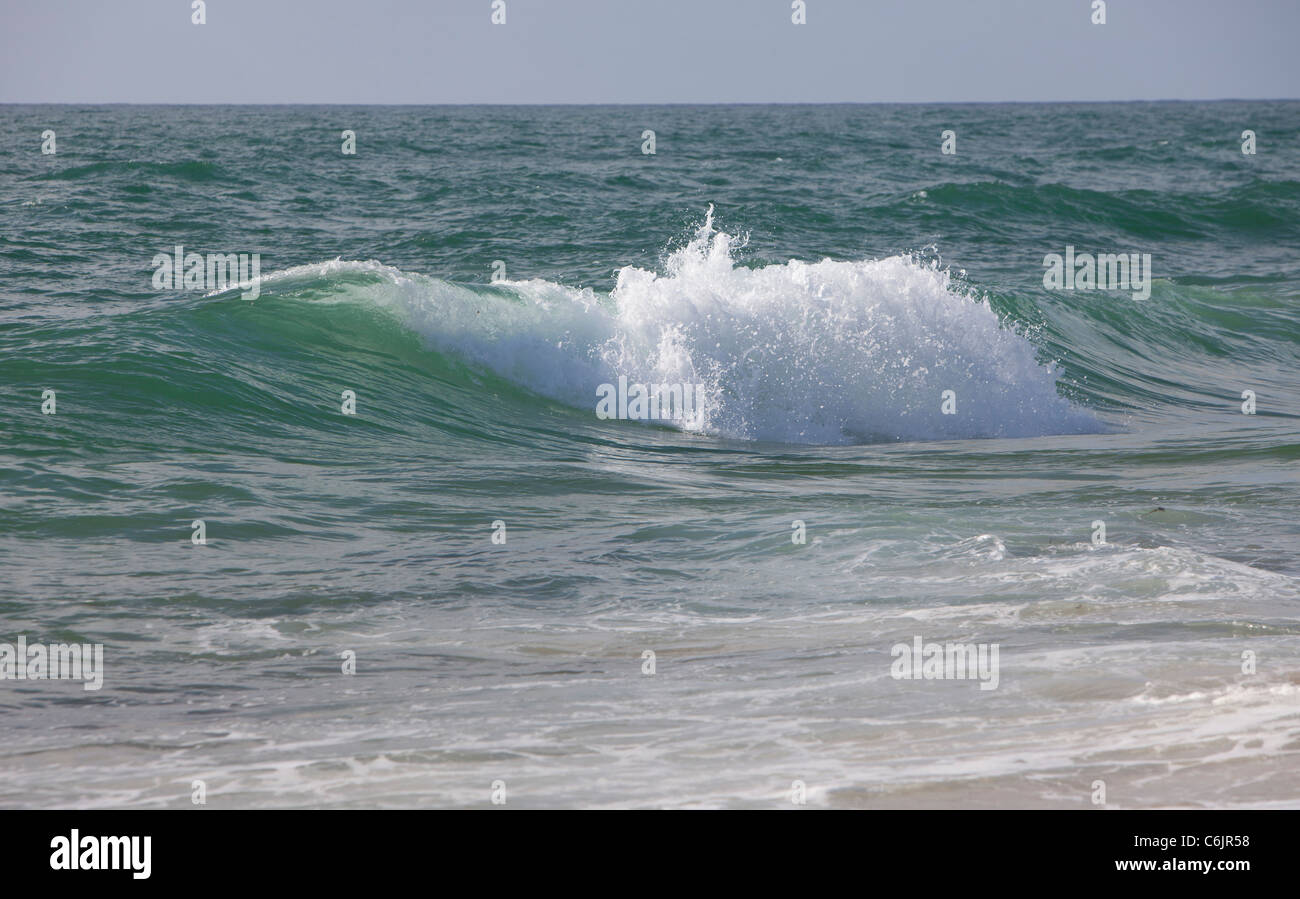 sea beach colors water background ocean wave open - Stock Image