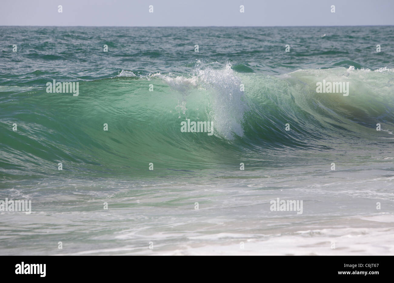 sea beach colors water background ocean wave open - Stock Image