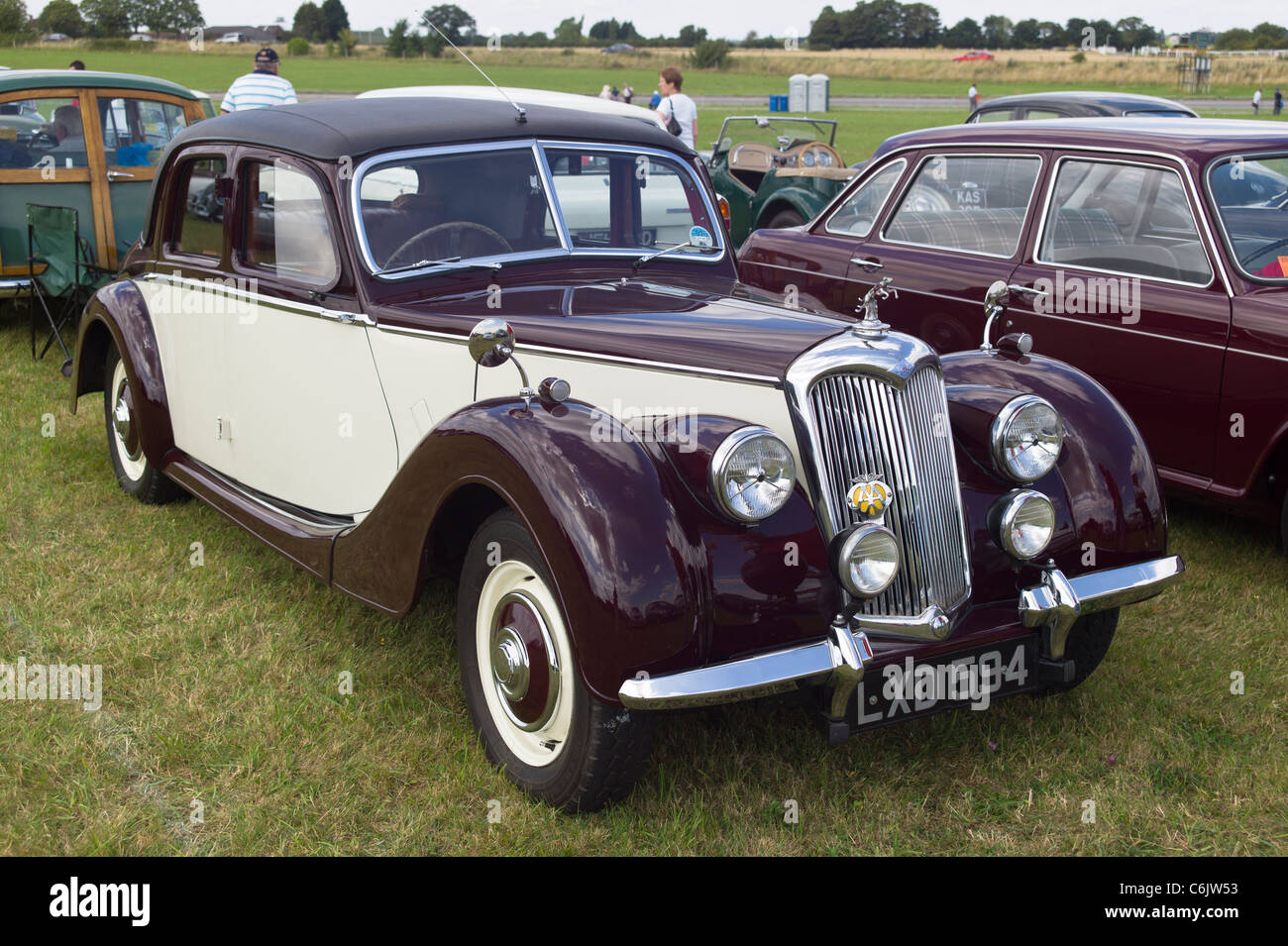 1950S Riley 2.5 RME classic car on show in UK 2011 - Stock Image