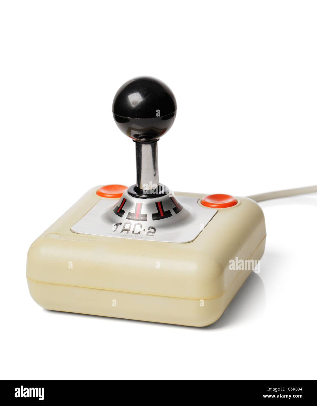Computer game joystick from 1980s - Stock Image