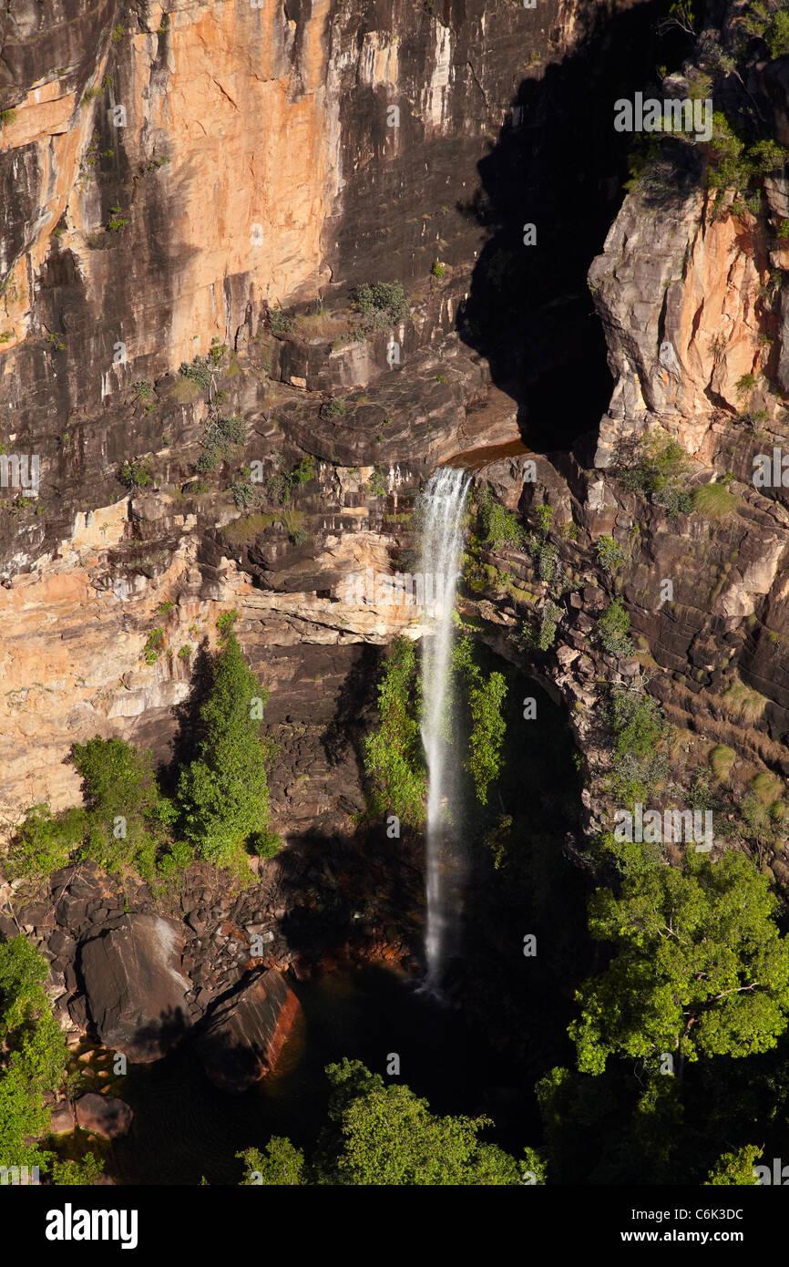 Small waterfall near East Alligator River Valley, at edge of Kakadu National Park, Arnhem Land, Northern Territory, Stock Photo
