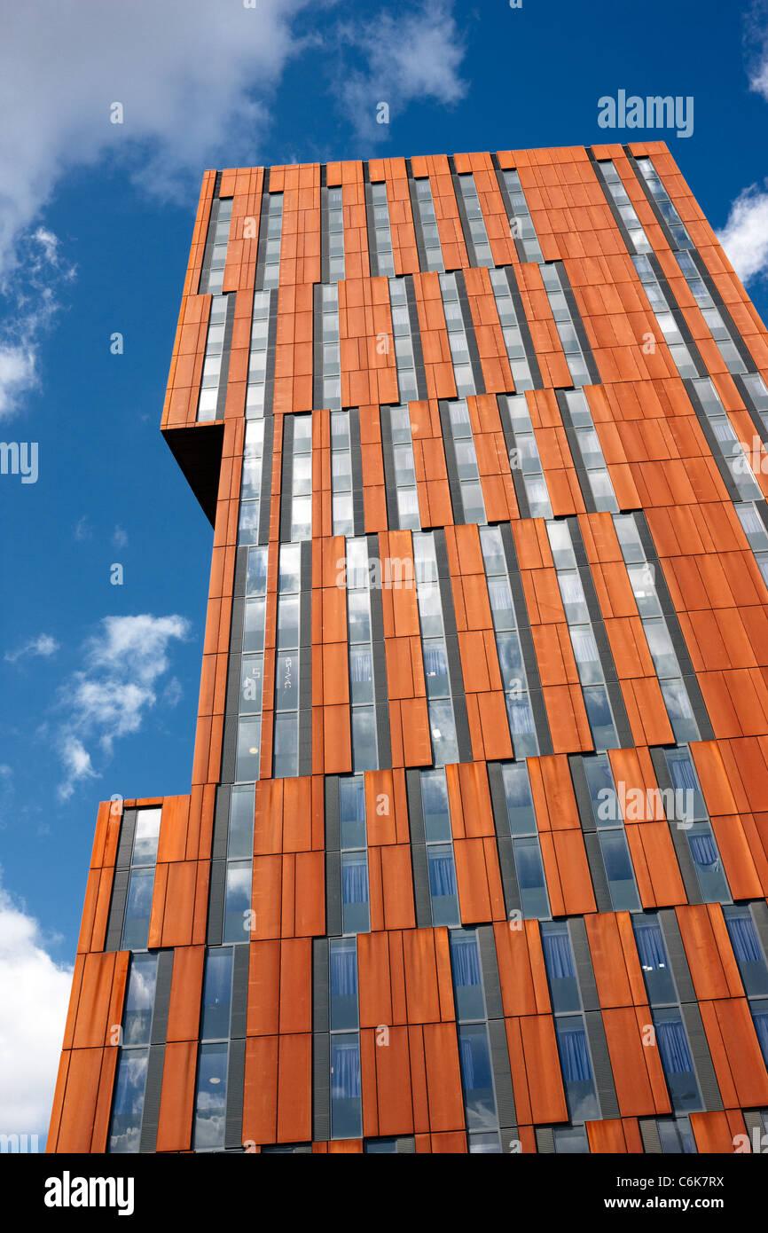 Broadcasting Tower, Leeds. Designed by Feilden Clegg Bradley, it is part of Leeds Met University - Stock Image
