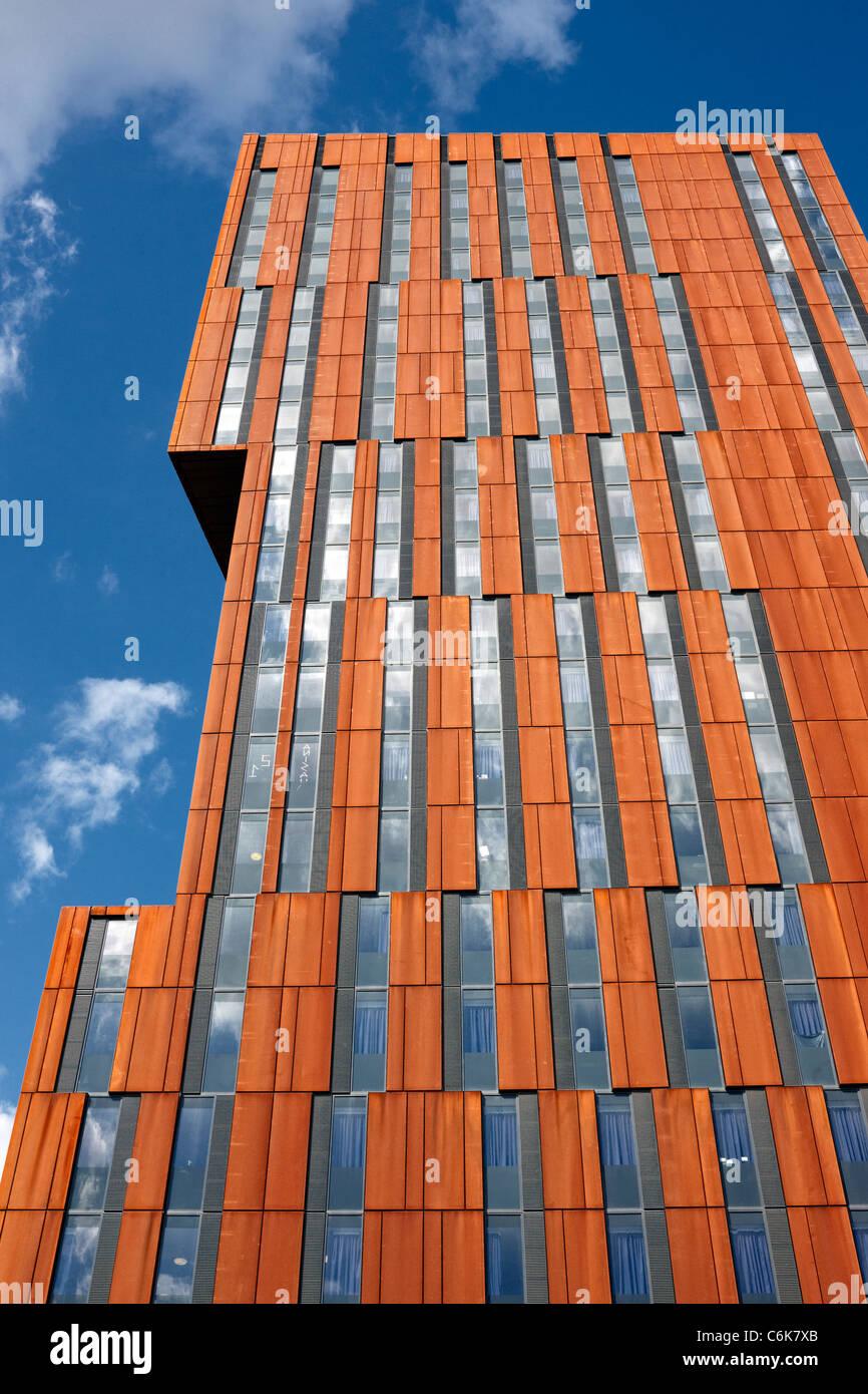 Broadcasting Tower, Leeds. Designed by Feilden Clegg Bradley, it is part of Leeds Met University Stock Photo