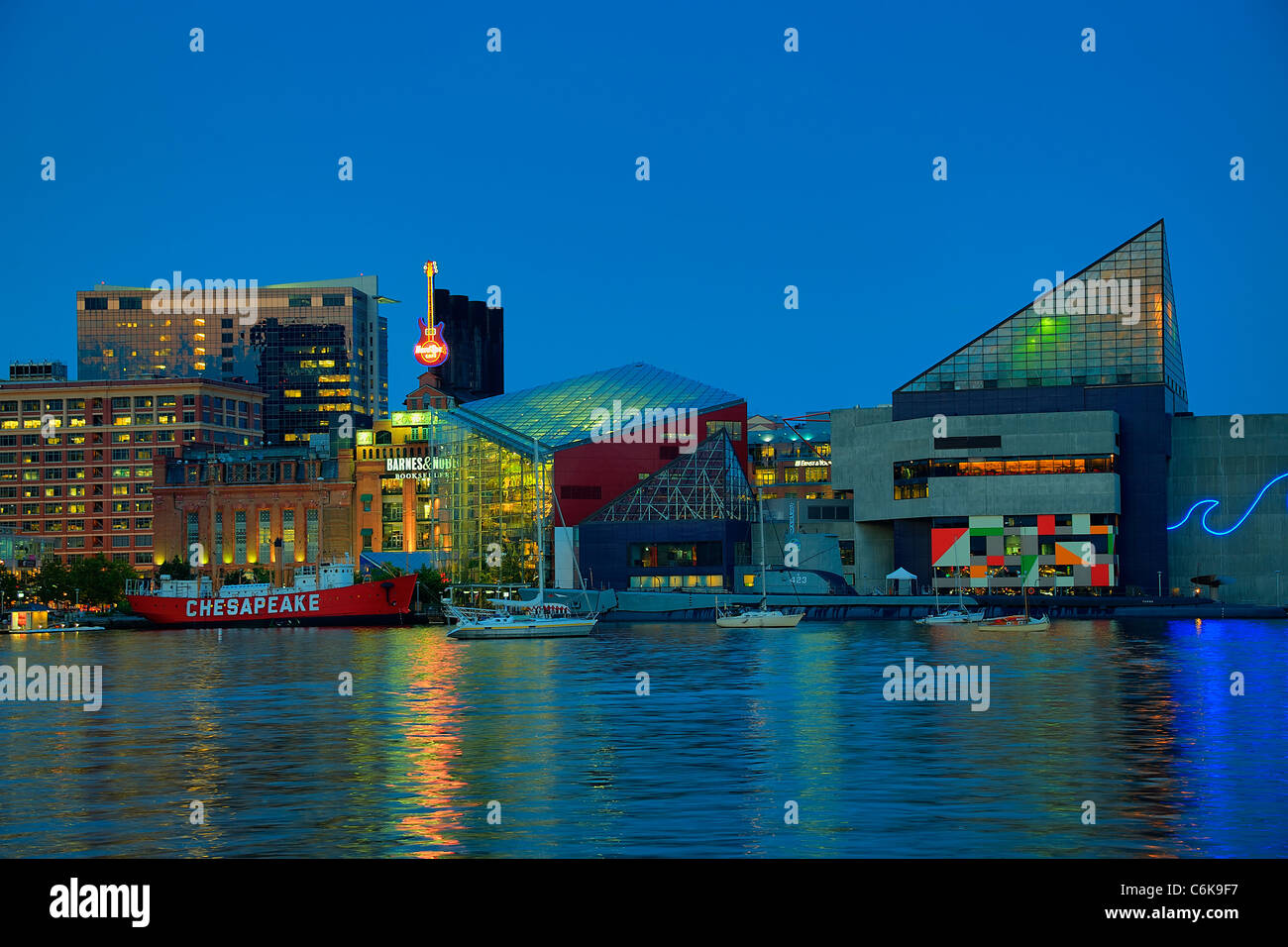 Inner Harbor, Baltimore, Maryland, USA - Stock Image