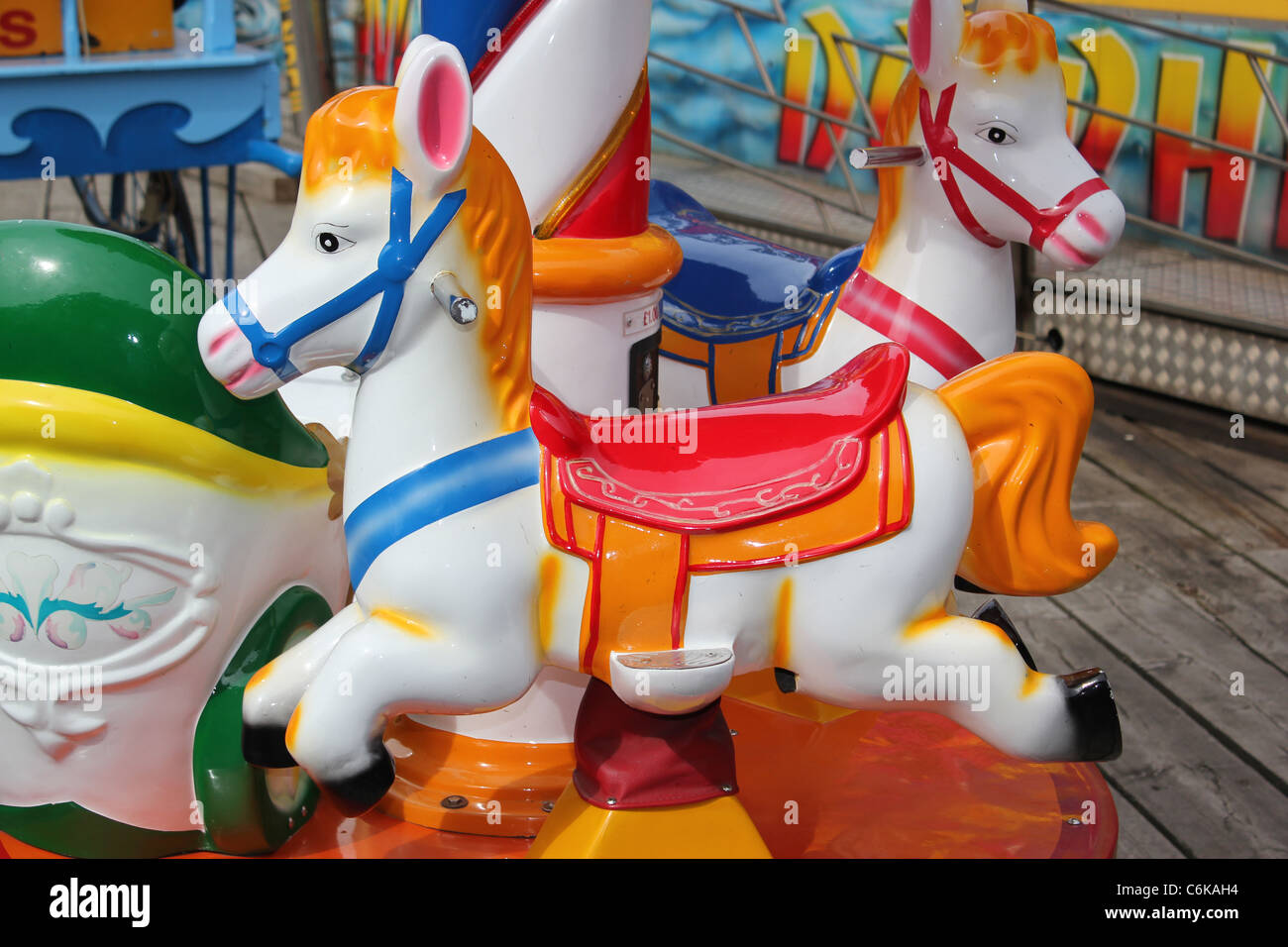 Amusements on Scarborough seafront - Stock Image