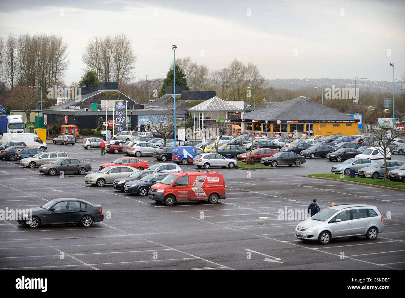 The Easton-in-Gordano service station area near Bristol UK