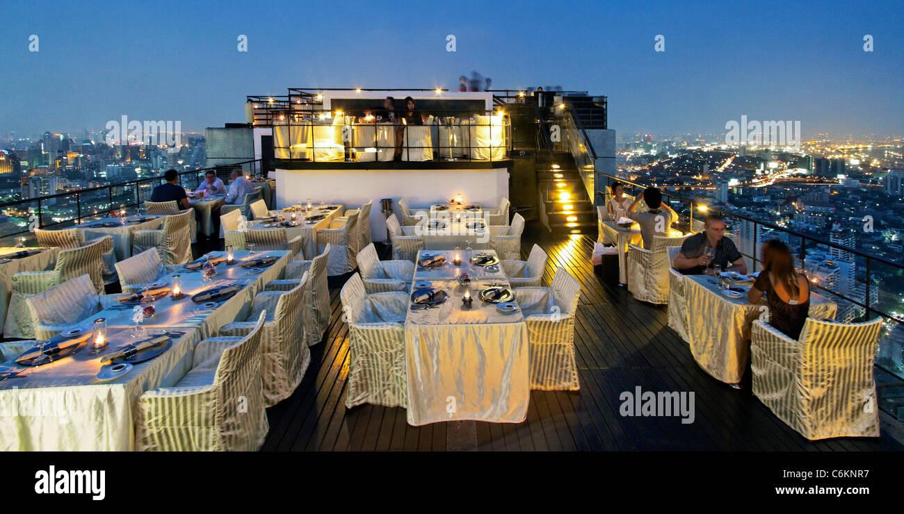Banyan Tree Rooftop Vertigo & Moon Bar, Restaurant, , Bangkok , Thailand  - Stock Image