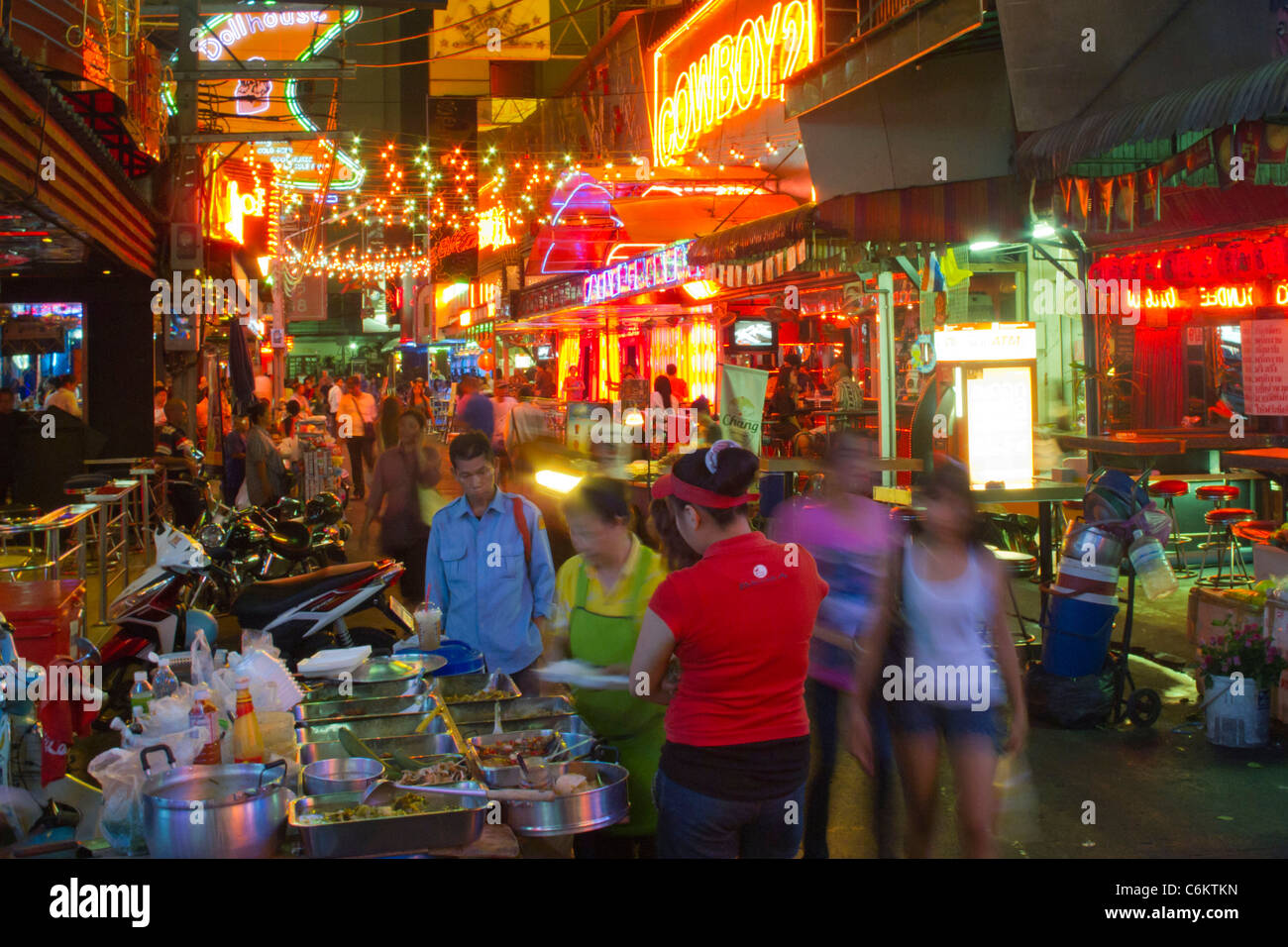 Soi Cowboy, nightlife center, bars, Bangkok, Thailand - Stock Image