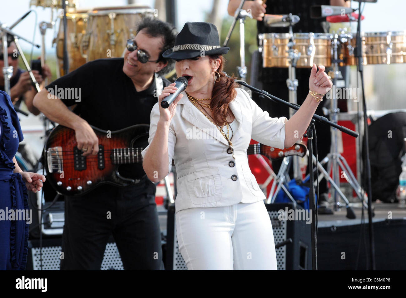 Gloria Estefan performs live on 'The Early Show' for CBS News  Miami