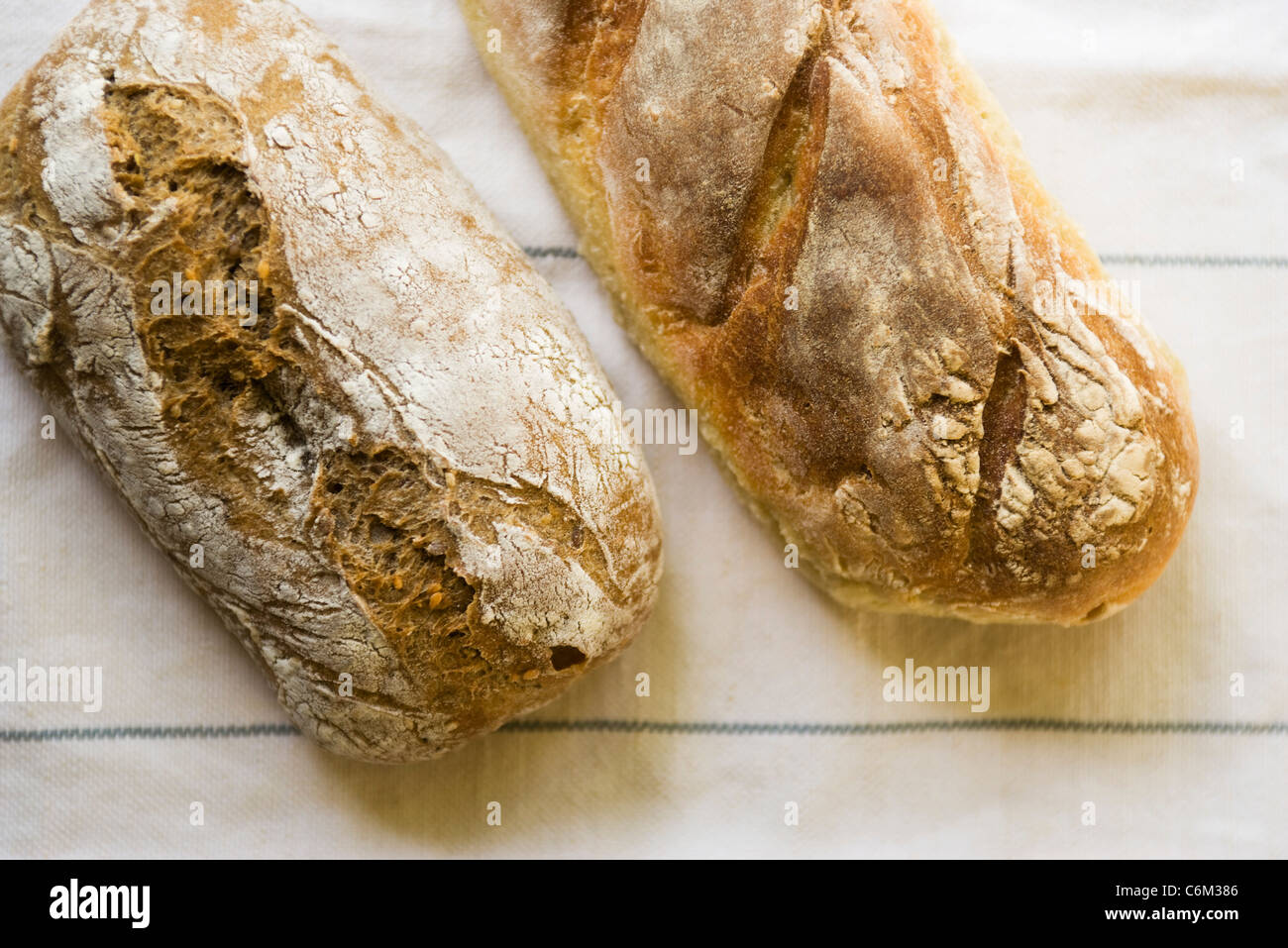 Loaves of fresh bread - Stock Image