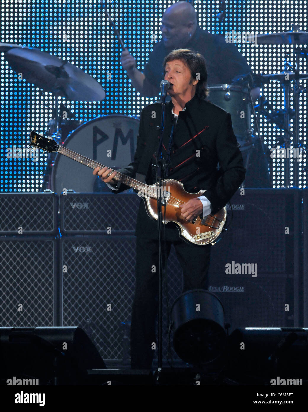 Sir Paul McCartney Performing On Stage During His Up And Coming Tour 2010 At The Air Canada Centre Toronto