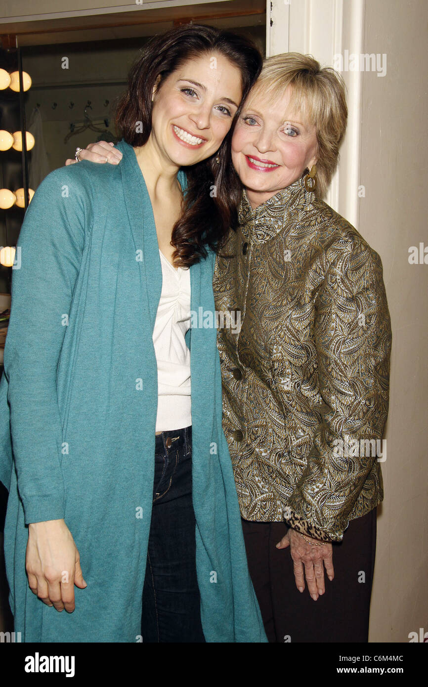 Elena Shaddow and Florence Henderson Florence Henderson visits the cast of the Encores! musical 'Fanny' held at Stock Photo