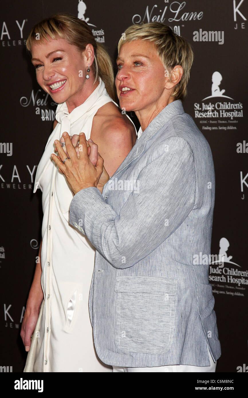 Portia DeRossi Ellen DeGeneres show off their wedding rings as