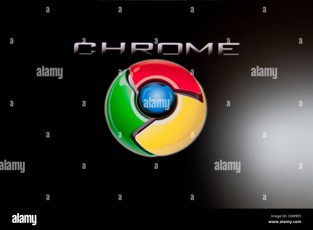 Google chrome logo, logos, trademark internet sensation search engine - Stock Image