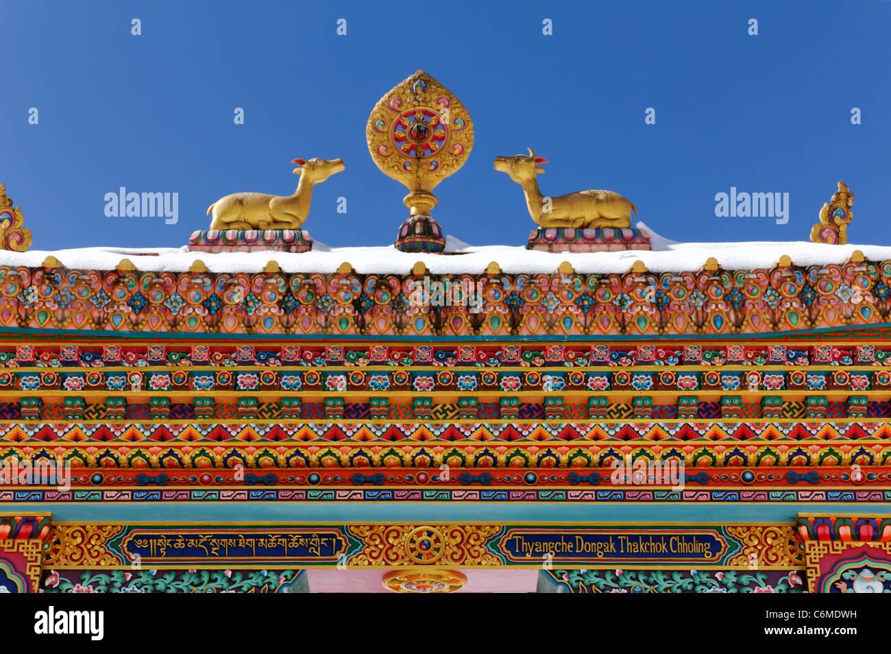 The buddhist Tengboche Monastery, Everest Region, Nepal - Stock Image