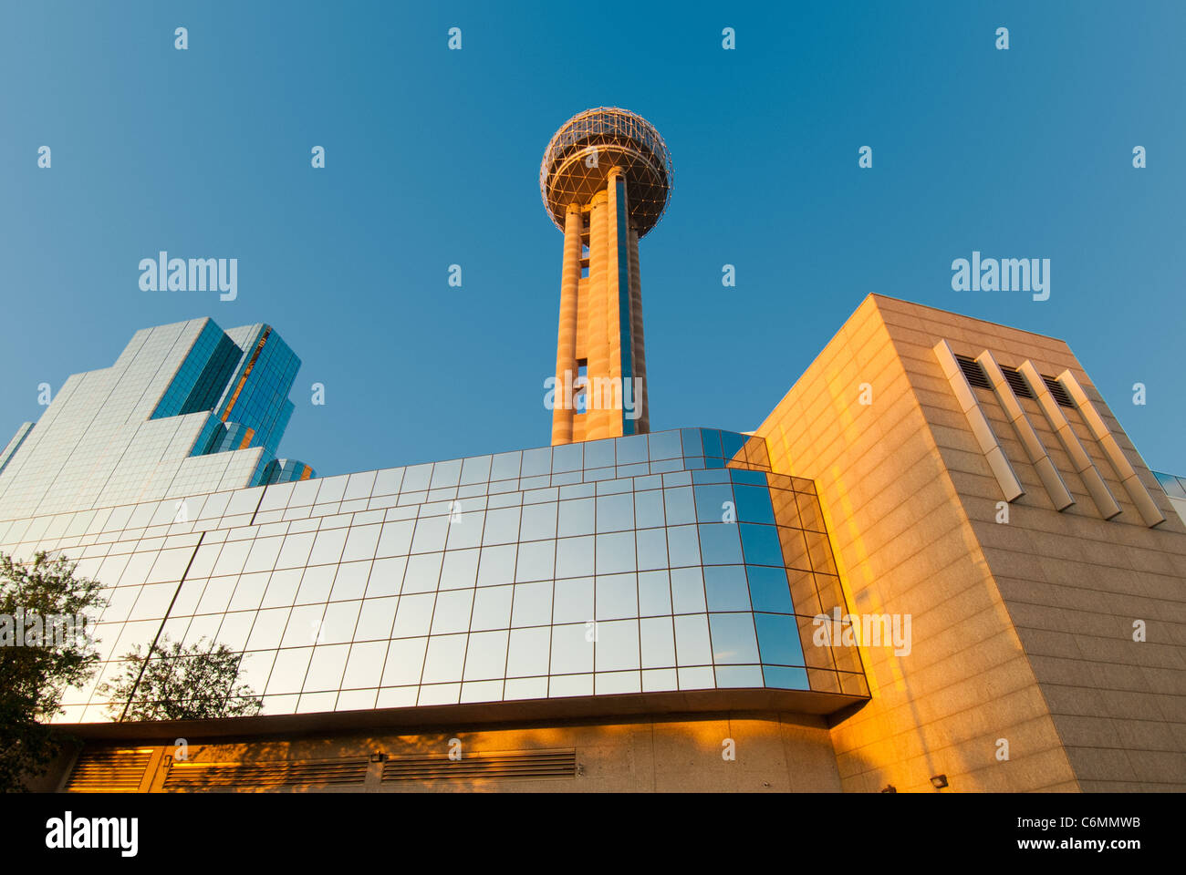 Reunion Tower with it's observation deck is a famous landmark of Dallas, Texas, USA - Stock Image