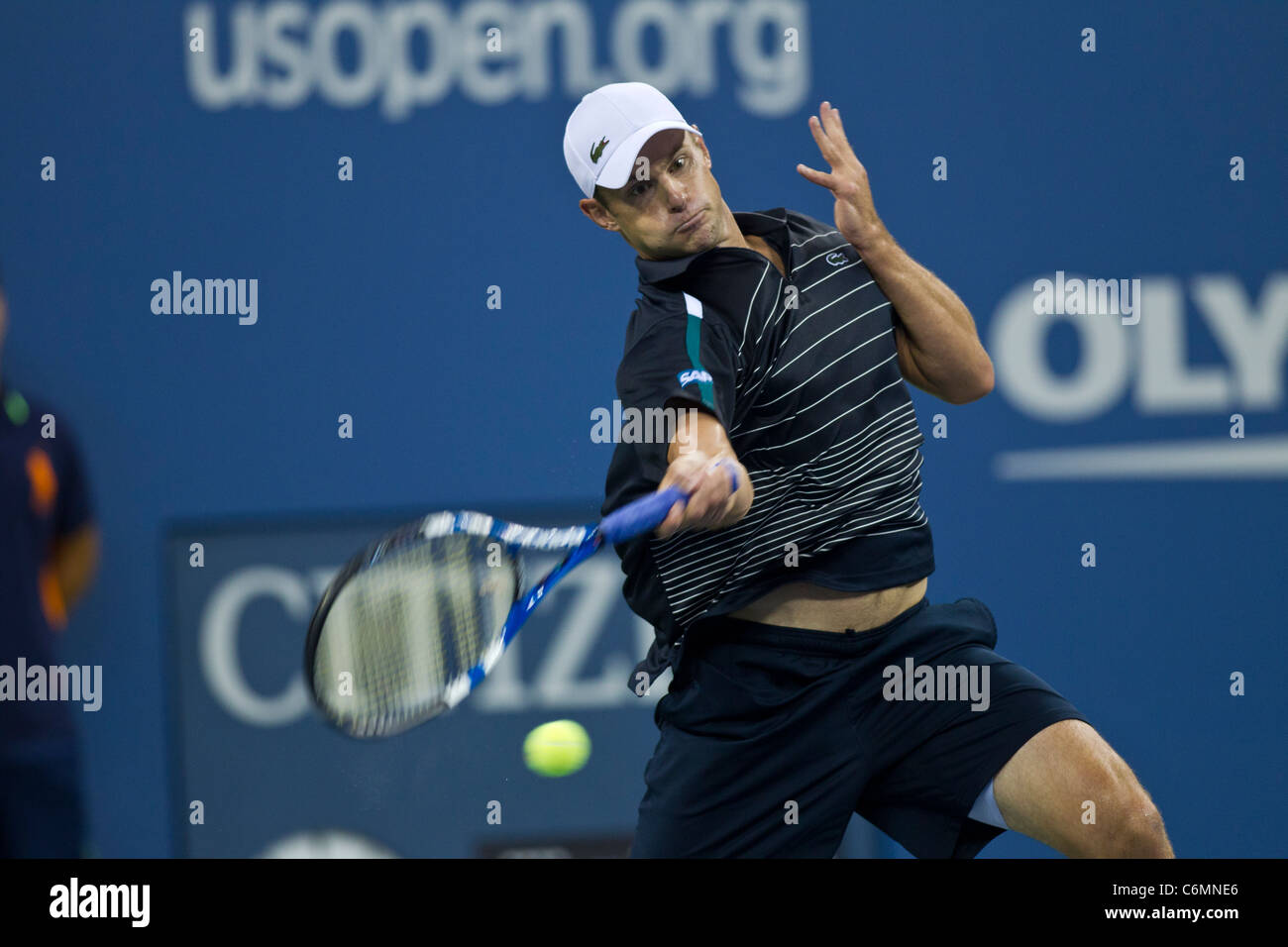 Andy Roddick (USA) competing at the 2011 US Open Tennis. - Stock Image